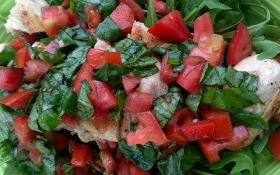 Chicken Breasts With Tomato, Basil & Arugula