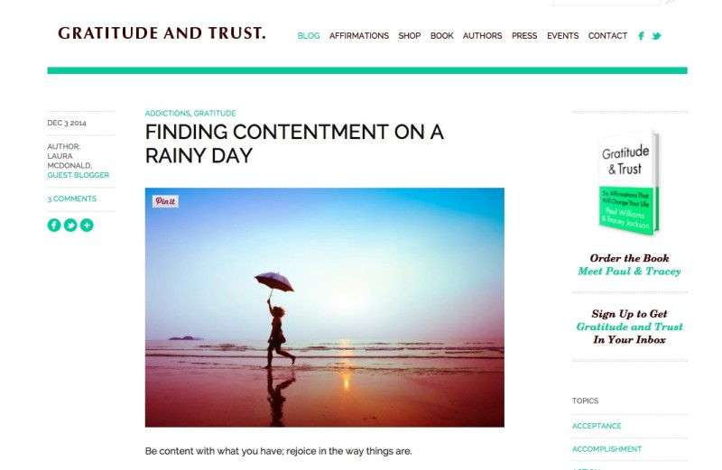 Finding Contentment On A Rainy Day