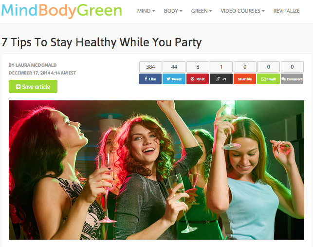 Stay Healthy While You Party Like A Rockstar